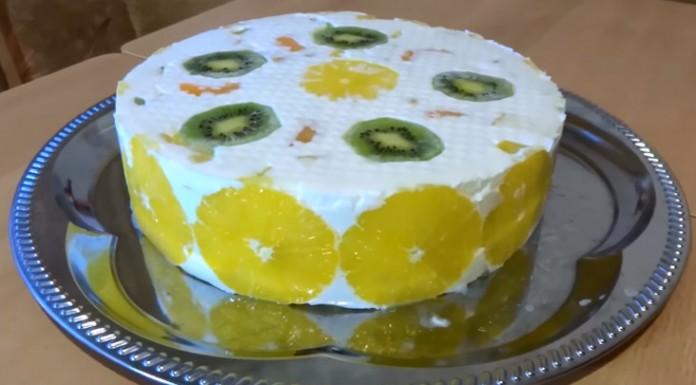 Фруктовый Желейный торт