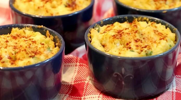 Воздушное картофельное суфле с сыром