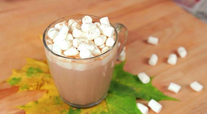 Мятное какао с маршмеллоу