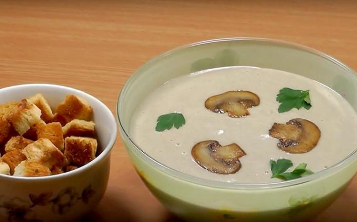 Грибной крем-суп из шампиньонов рецепт с пошаговое