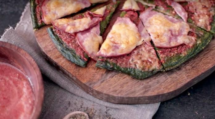 Зеленая пицца
