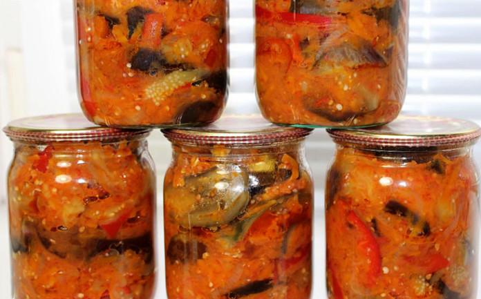 Лечо из баклажанов на зиму рецепт с пошаговым приготовлением и