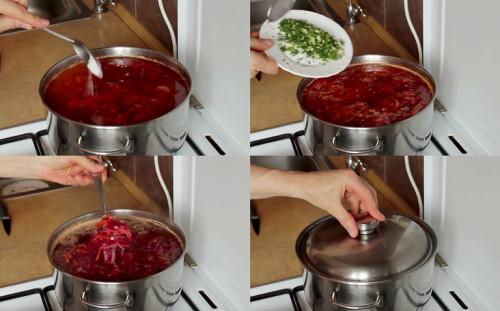 Постный борщ с фасолью готов