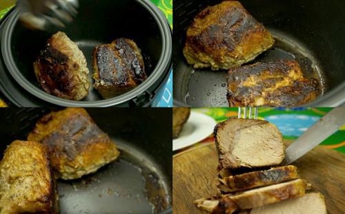 Переворачиваем и мясо готово