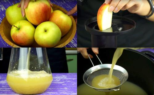 Делаем сок из яблок