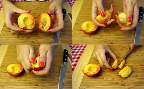 Подготавливаем персики