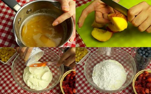 Желатин, сметана и сахарная пудра