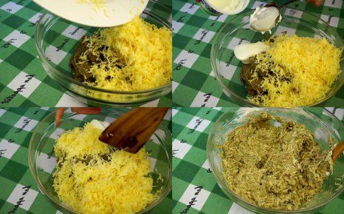 Добавляем сыр и перемешиваем